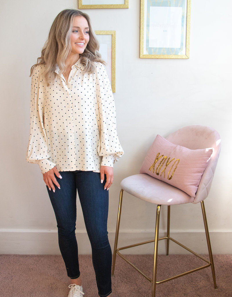 Part Two Blouse With Polka Dots