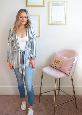 Designers Society Spence Striped Cover-Up