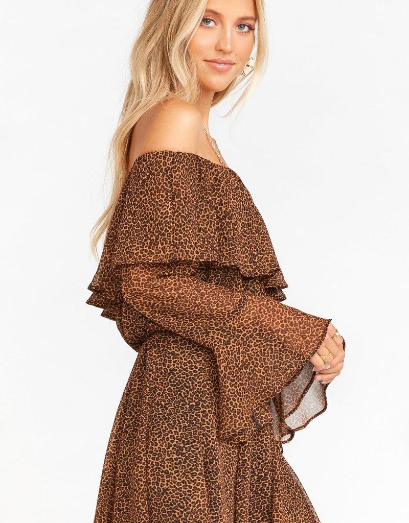 Show Me Your Mumu Skater Mini Skirt in Lucky Leopard