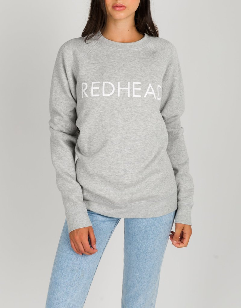 Brunette the Label Redhead Crew Sweatshirt in Pebble Grey