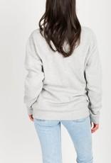 Brunette the Label Blonde Crew Sweatshirt in Pebble Grey