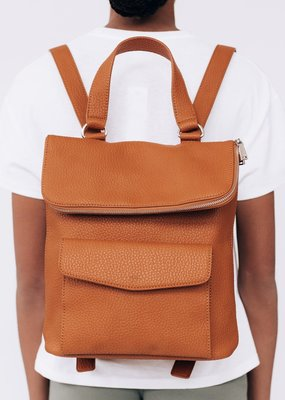 Colab Vegan Pebble Backpack in Camel