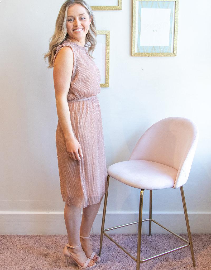 Molly Bracken Kate Sleeveless Dress in Rose Gold