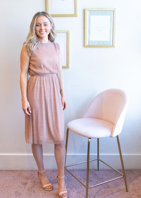 Molly Bracken Kate Dress in Rose Gold