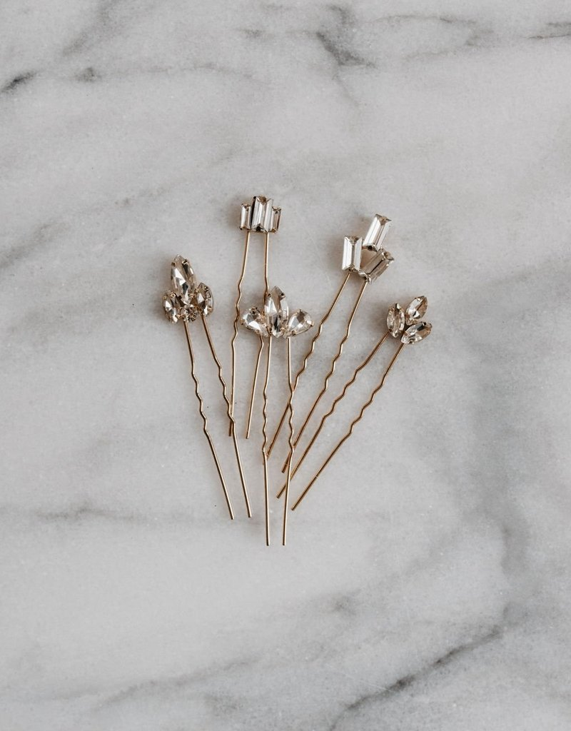 Luna & Stone Art Deco Hair Pin Set
