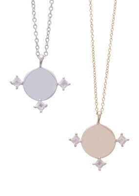 Sarah Mulder Imperial Necklace in Gold and Rose Quartz