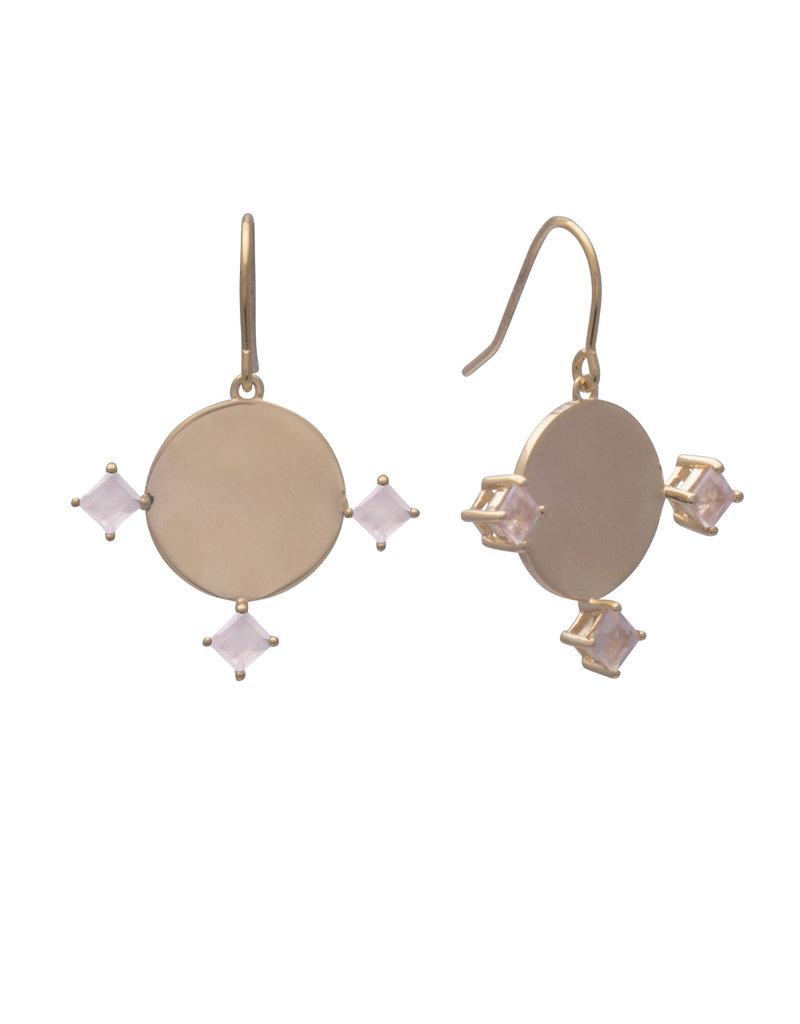 Sarah Mulder Imperial Earring - Rose Quartz
