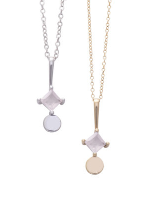 Sarah Mulder Sorn Necklace in Gold and Rose Quartz