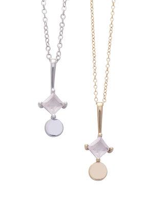 Sarah Mulder Sorn Necklace in Gold and Rose Quartz