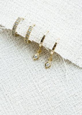 Lavender & Grace Starry Huggie Earring