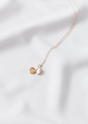Lavender & Grace Mini Locket Necklace - 14K Gold Filled
