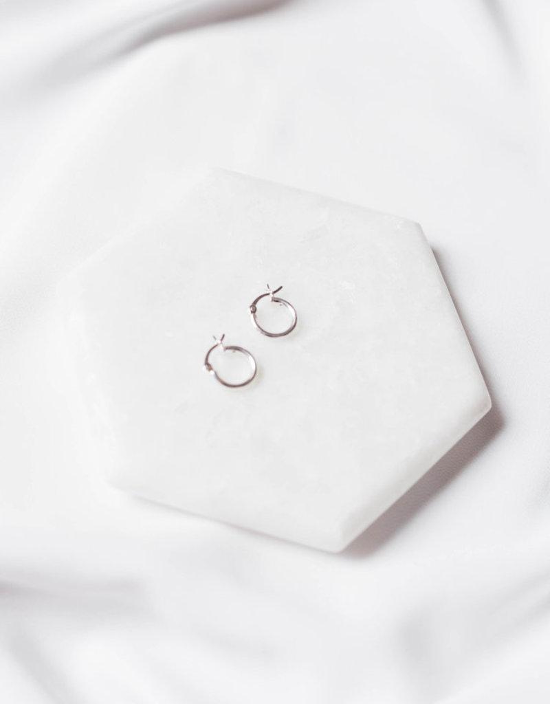 Lavender & Grace Grace Huggie Earring - Silver