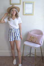 Designers Society Striped Cotton Shorts