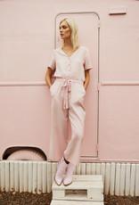 Designers Society Blush Linen Jumpsuit