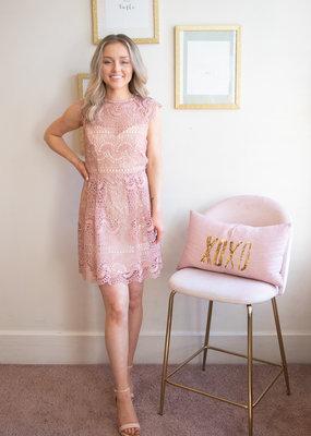 Minuet Abby Lace Cap Sleeve Lace Dress