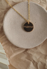 Amara Blue Designs Hand-Stamped Mama Disc Necklace