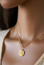 "Melanie Auld Aquarius Pendant with 18"" Figaro Chain *Gold and Silver*"