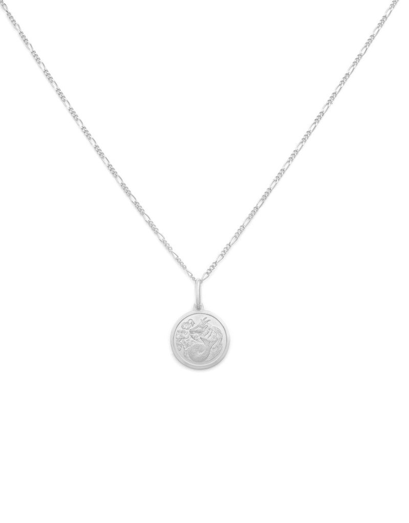 """Melanie Auld Capricorn Pendant with 18"""" Figaro Chain *Gold and Silver*"""