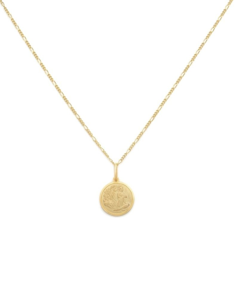 "Melanie Auld Gemini Pendant with 18"" Figaro Chain *Gold and Silver*"