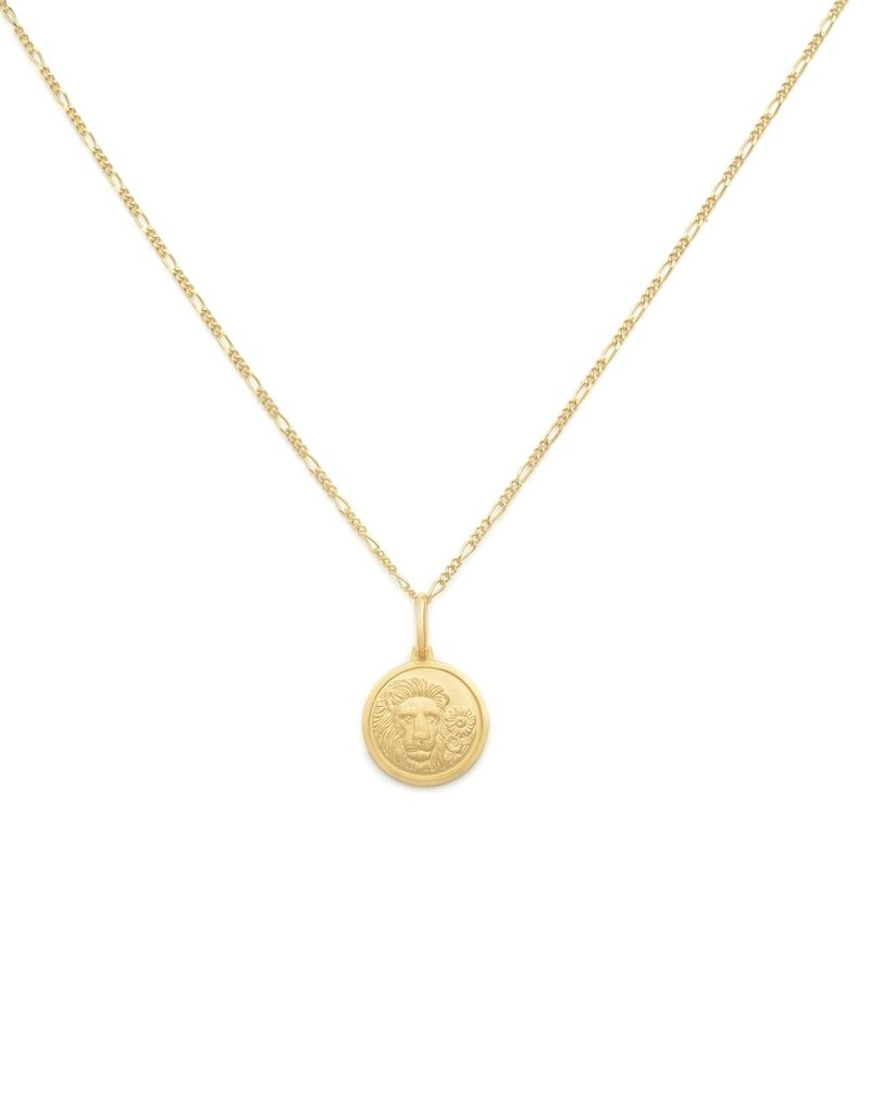 "Melanie Auld Leo Pendant with 18"" Figaro Chain *Gold and Silver*"