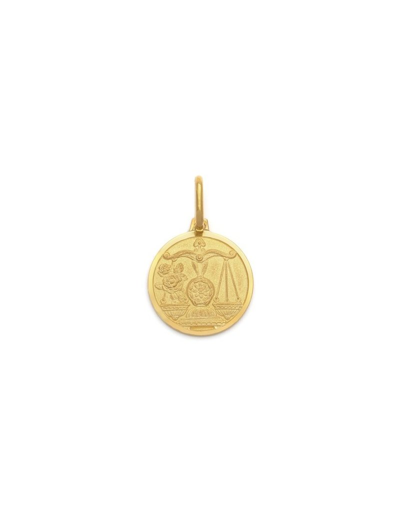 "Melanie Auld Libra Pendant with 18"" Figaro Chain *Gold and Silver*"
