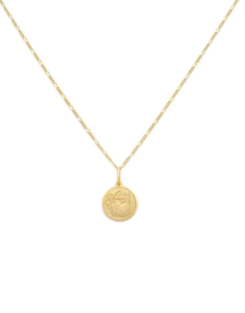 "Melanie Auld Sagitarius Pendant with 18"" Figaro Chain *Gold and Silver*"