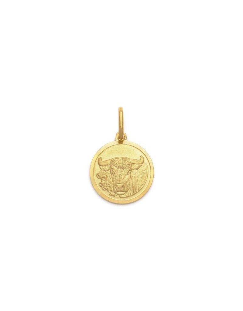 "Melanie Auld Taurus Pendant with 18"" Figaro Chain *Gold and Silver*"