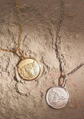"Melanie Auld Taurus Pendant with 18"" Figaro Chain"