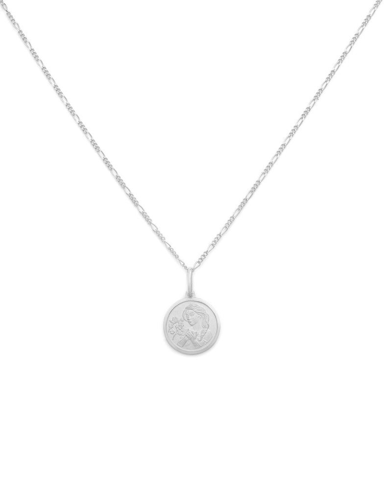 """Melanie Auld Virgo Pendant with 18"""" Figaro Chain *Gold and Silver*"""