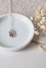 Amara Blue Designs Hand-Stamped Bee Pendant Necklace