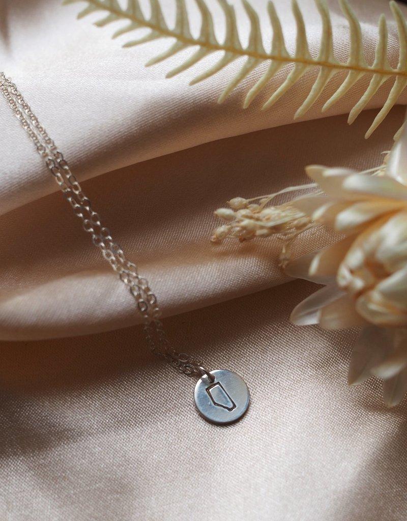 Amara Blue Designs Hand-Stamped Alberta Pendant Necklace