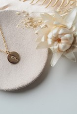 Amara Blue Designs Hand-Stamped Rose Pendant Necklace