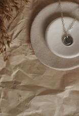 Amara Blue Designs Hand-Stamped Moon Pendant Necklace