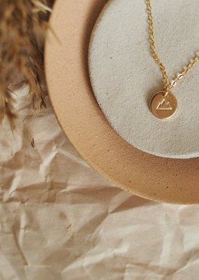 Amara Blue Designs Hand-Stamped Mountain Disc Necklace