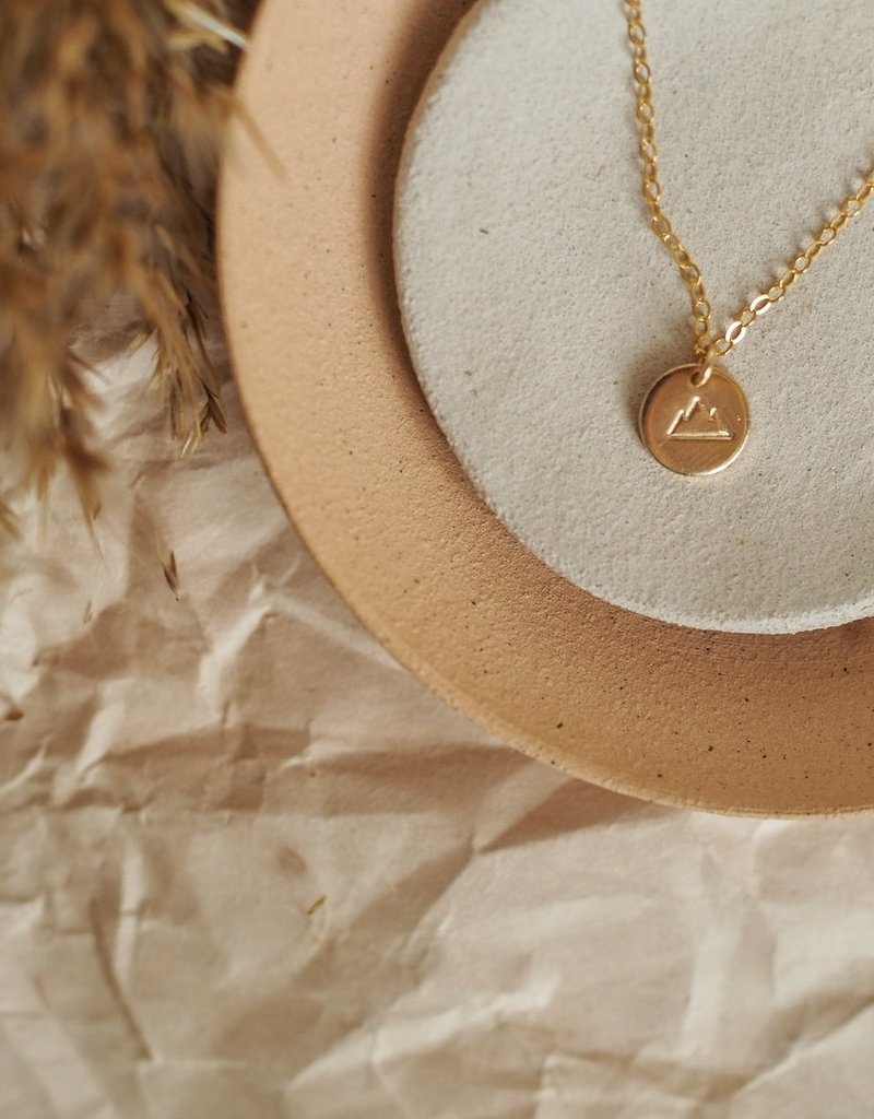 Amara Blue Designs Hand-Stamped Mountain Pendant Necklace