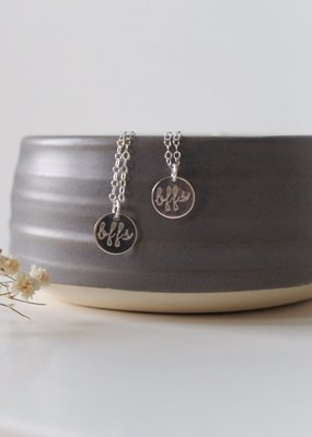 Amara Blue Designs Hand-Stamped BFF Disc Necklace