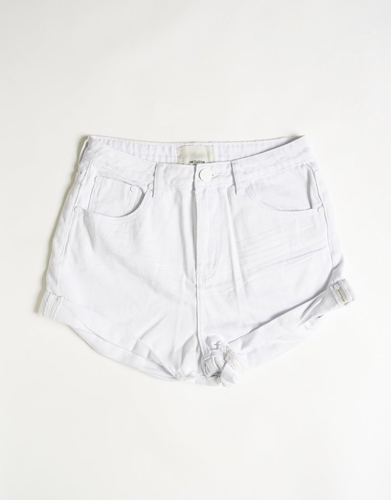 One Teaspoon Bandits Denim Shorts - White