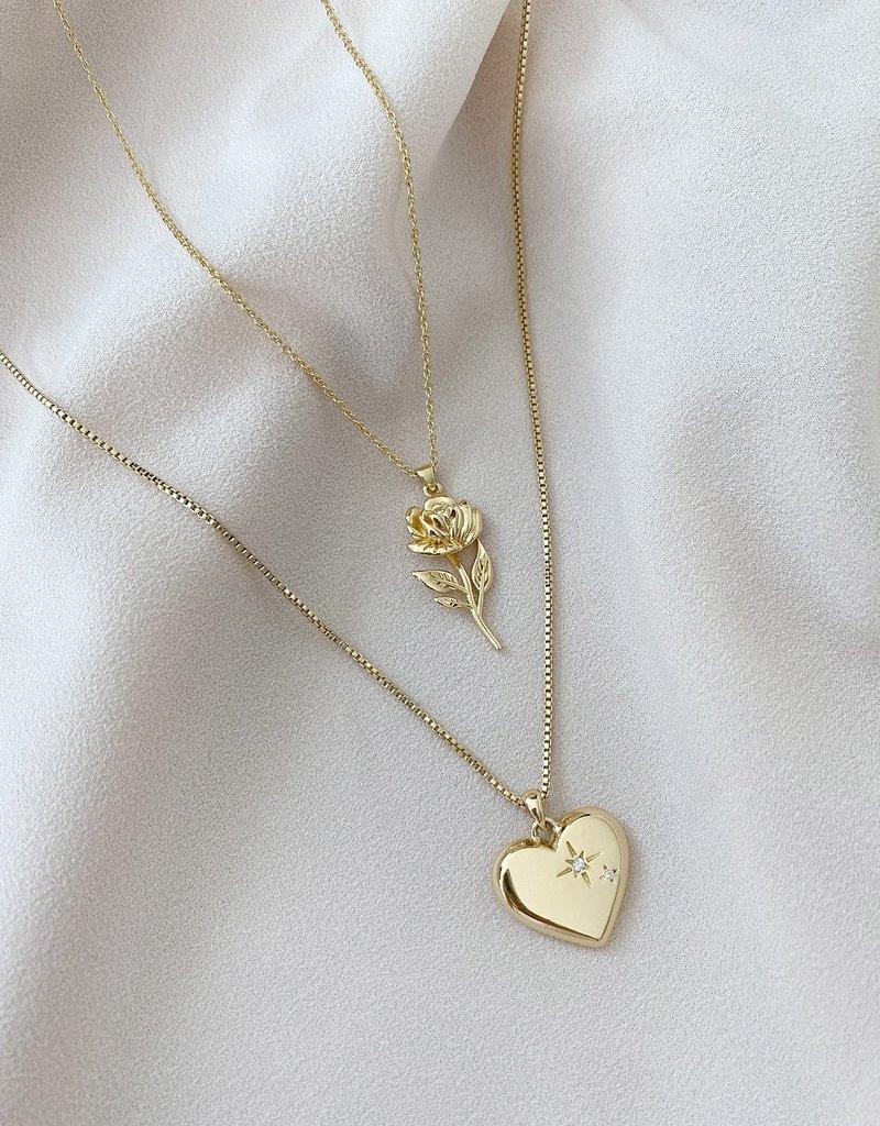 Olive & Piper Rosa Pendant Necklace