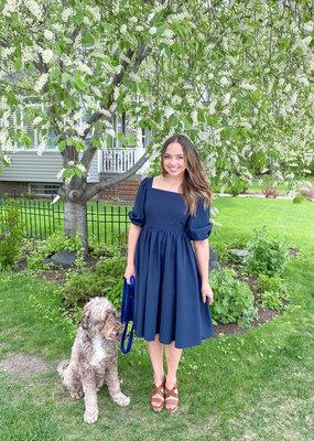 Emma Knudsen Emma Knudsen - Charlotte Dress in Navy