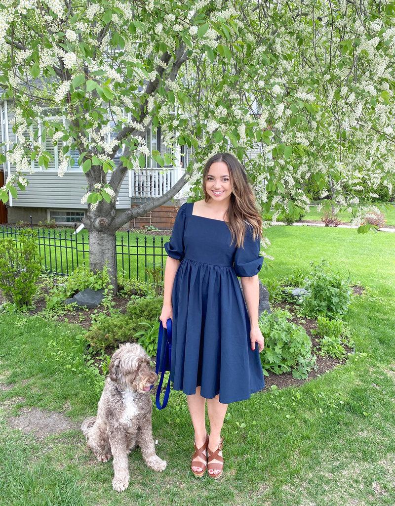 Emma Knudsen Charlotte Dress - Navy