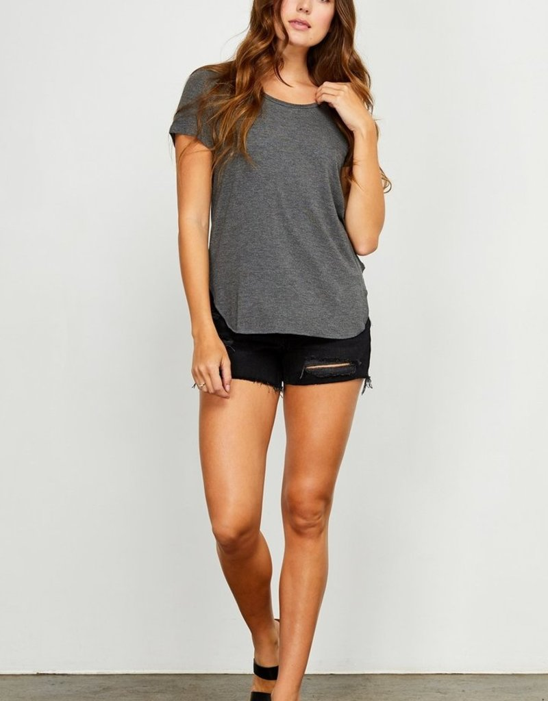 Gentle Fawn Alabama Tee in Dark Grey