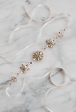 Luna & Stone Aster Sash - Gold with White Ribbon
