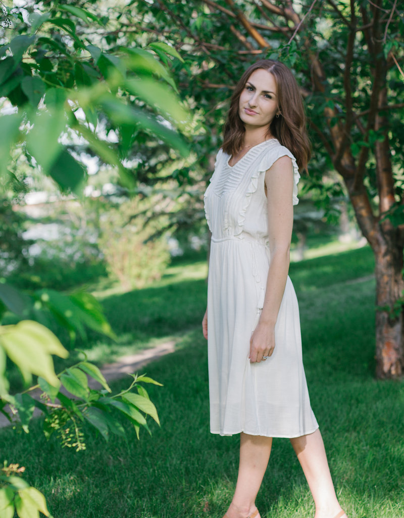 Designers Society Ana Romantic Dress with Ruffles