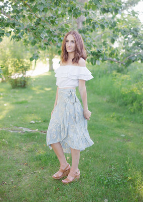 Designers Society Adella Wrap Skirt