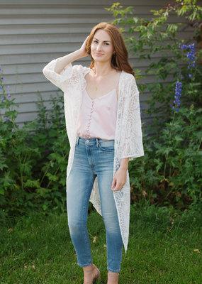 Cream Amilla Lace Kimono