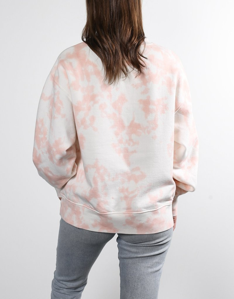 "Brunette the Label The ""BLONDE"" Step Sister Crew Neck Sweatshirt in Marble Tie-Dye"