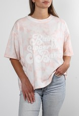 """Brunette the Label The """"BABES SUPPORTING BABES"""" Vintage Boxy Crew Neck Tee in Marble Tie-Dye"""