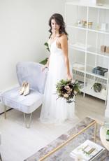 Luxxel Selena Tulle Maxi Dress - White