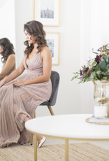 Luxxel Sierra Shimmer Maxi Dress in Mauve