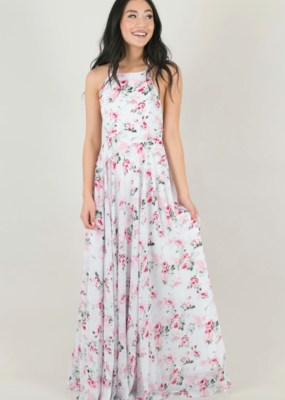 Skylar Belle Payton Maxi Dress - Blue Pink Floral